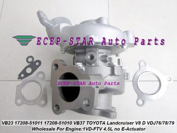 1p Twin Turbo RHV4 VB23 17208-51010 17208 51010 17208 51011 17201-78032 For TOYOTA LandCruiser 200 1VDFTV VDJ76 VDJ78 VDJ79 4.5L