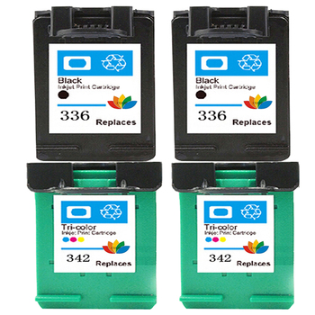 4 Compatible HP 336 342 Ink Cartridge for HP Photosmart C3100 7800 7850 C3110 C3125 C3140 C3150 C3185 C3188 C3190 Printer