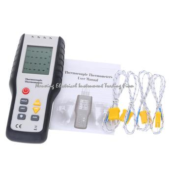 Fast arrivalHT-9815 Digital TemperatureMeter Handheld 4 Channel Thermometer K Type Thermocouple Sensor -200~1372C/-328~2501F