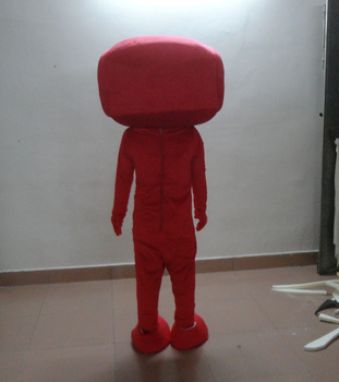 Red big mouth doll mascot costume fancy dress party costumes Holiday special clothing  for Halloween party event