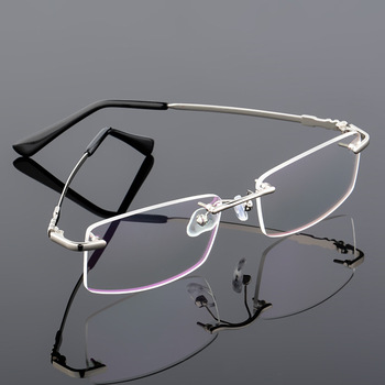 10pcs/lot Memory titanium glasses frame Flexible Memory Metal Rimless Eyeglasses Frame for oculos de grau Glasses Optical Frame