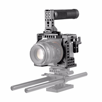 SmallRig Dual Camera Cage Kit for Sony A7R III / A7III Su Rankena Viršuje, Rankena HDMI Apkabos, 2096