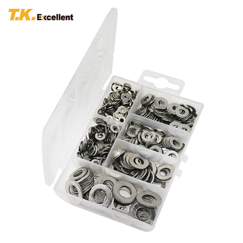 T.K.EXCELLENT 660 Pcs M3 M4 M5 M6 M8 M10 304 Stainless Steel Anti-corrosion Cleaning passivation Ultra-thin Flat Washer Gasket