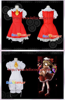 Touhou Project Cosplay Flandre Scarlet Kostiumas H008